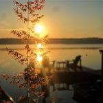 An iconic golden sunrise